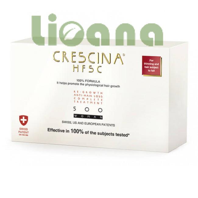 Комплекс для лечения выпадения волос для женщин, Crescina HFSC 500