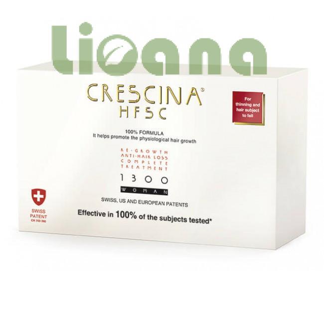 Комплекс для лечения выпадения волос для женщин, Crescina HFSC 1300
