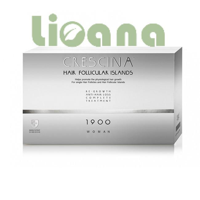 Комплекс для лечения выпадения волос для женщин, Crescina HFI 1900