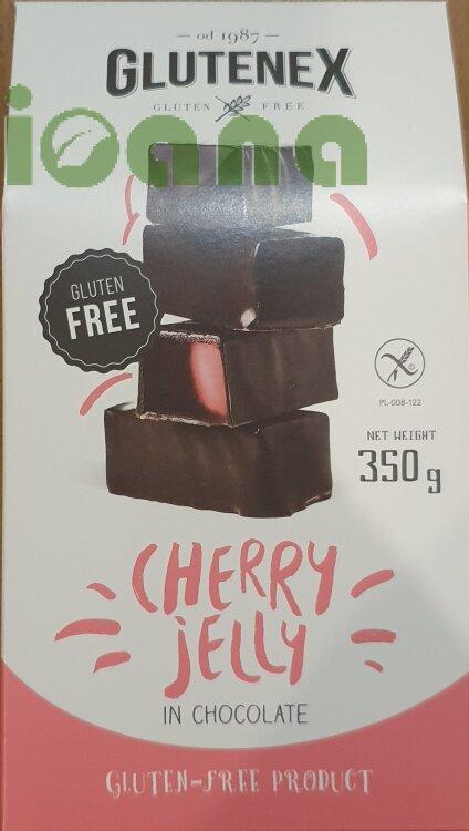 Безбелковое вишневое желе в шоколаде Glutenex 350 гр.