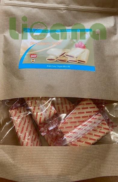 Печенье безбелковое, с клубникой, Sanavi, 200 гр.