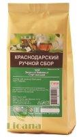 РУЧНОЙ СБОР Краснодарский чай зеленый крупнолистовой байховый высший сорт ЗИП 70 гр