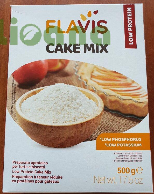 Смесь для приготовления тортов, кексов и маффинов с низким содержанием белка Flavis 500гр.