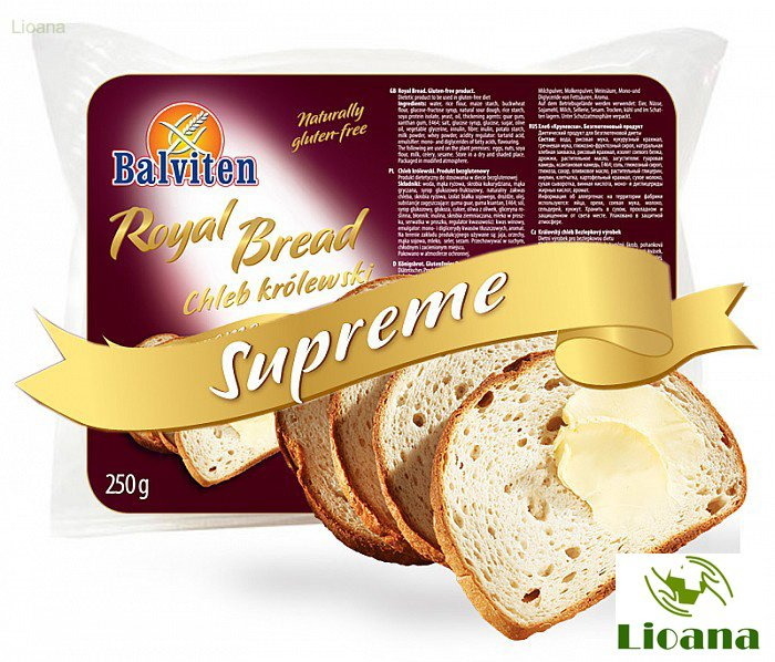 Безглютеновый черный хлеб Королевский ROYAL BREAD CHLEB KROLEWSKI