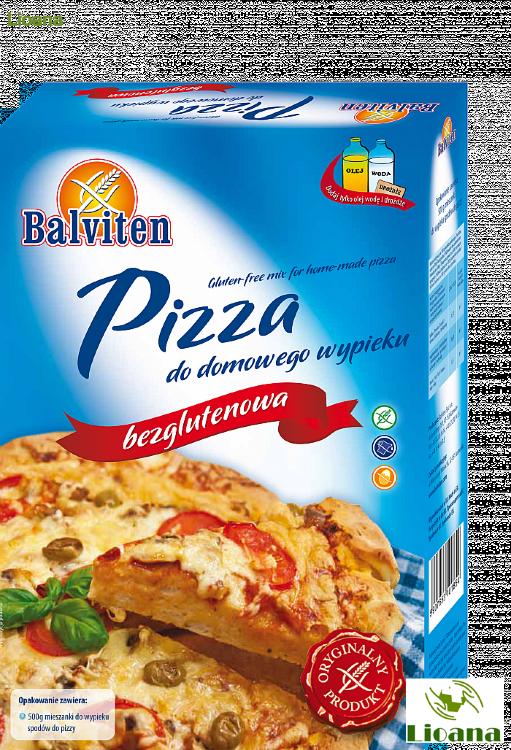 Безглютеновая смесь для домашней выпечки пиццы PIZZA DO DOMOWEGO WIPIEKU