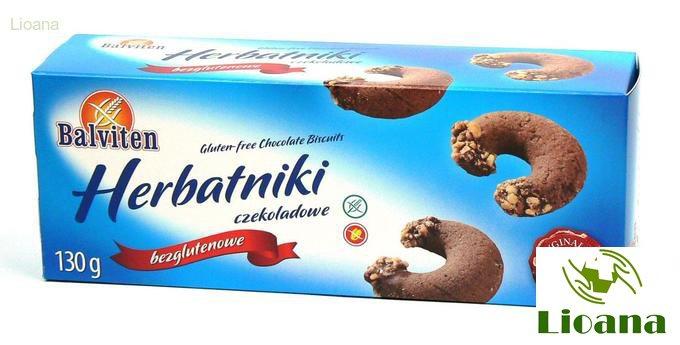 Безглютеновое шоколадное печенье HERBATNIKI CZEKOLADOWE