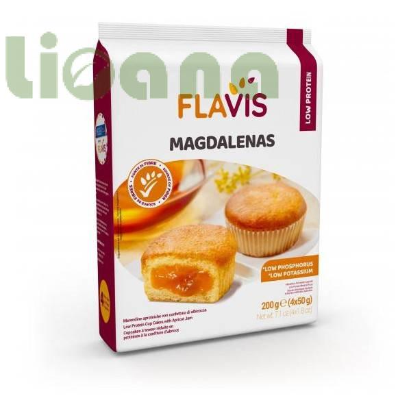 Кексы с абрикосовым джемом безбелковые, magdalenas, Flavis, 200 гр.