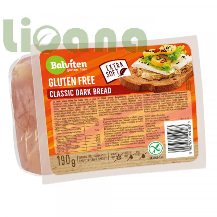 Хлеб безглютеновый темный классический 190 гр. Балвитен Pane scuro a fette
