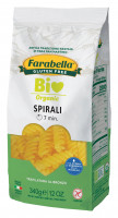 Pasta organic Spirali (corn&rice), Безглютеновая Паста органическая Спирали 340 гр. Farabella
