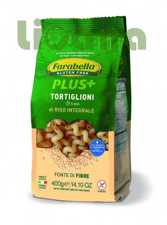 Pasta Tortiglioni with brown rice, Безглютеновая Паста Тортильони с бурым рисом 400 гр, Farabella