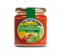 Tomato sauce with Basil, Безглютеновый Томатный соус с базиликом 280 гр, Farabella