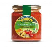 Tomato sauce with Olives, Безглютеновый Томатный соус с оливками 280 гр. Farabella