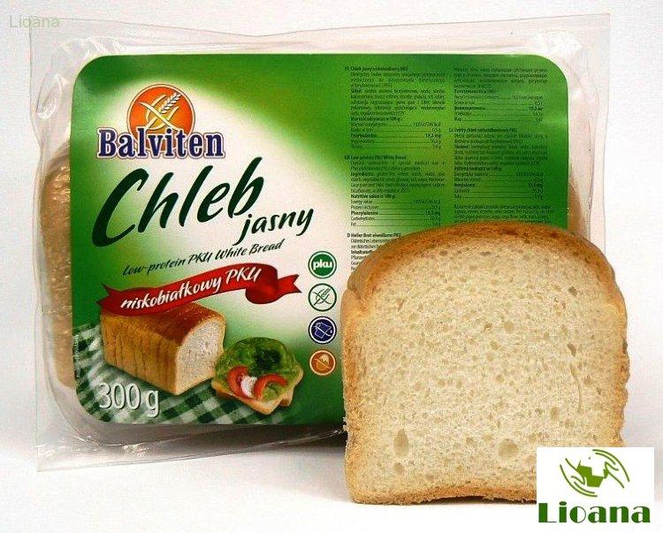 Chleb jasny Хлеб низкобелковый белый, Балвитен, 300 гр.