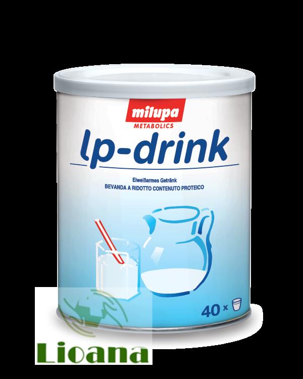 Молоко сухое низкобелковое, безглютеновое lp-drink milupa