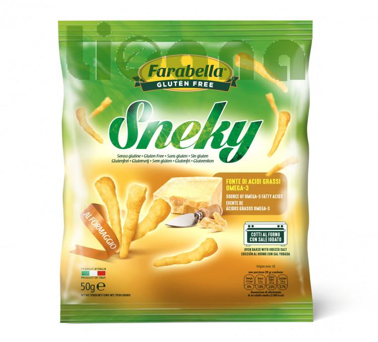 Sneky, Безглютеновые Кукурузные чипсы 50 гр. Farabella